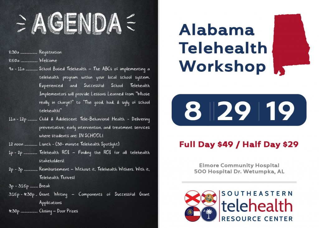 Alabama telehealth workshop invitation and agenda